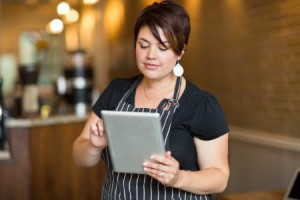 Restaurant Employee with Tablet